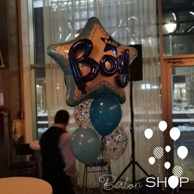 buket baby boy helijumski baloni