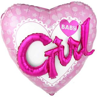Baby Girl 3D srce veliko