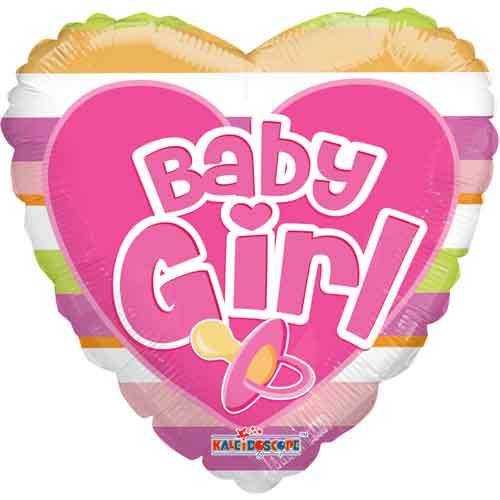 baby girl srce balon