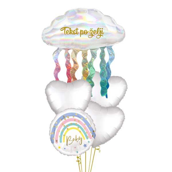 baby helijumski baloni za rodjenje bebe