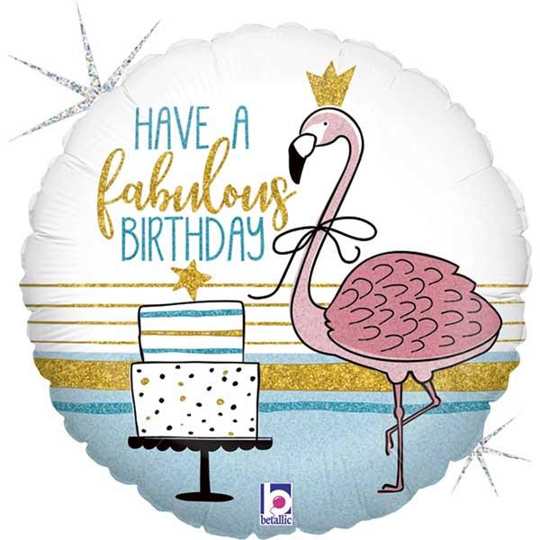 flamingo happy birhday balon