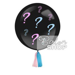 Balon za otkrivanje pola bebe sa konfetama i balonima
