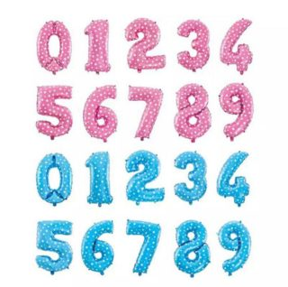 Baloni brojevi plavi i roze