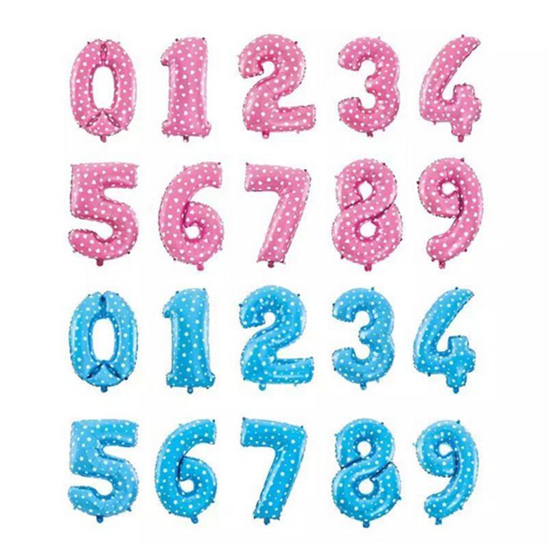 baloni brojevi plava i roze