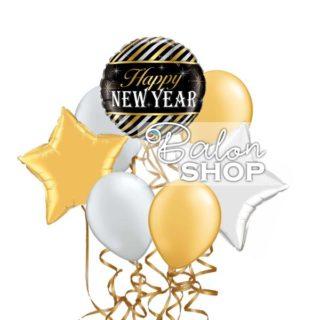 Srećna Nova godina buket balona