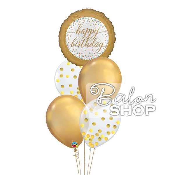 baloni za rodjendan zlatni