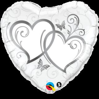 Srce sa srcima Elegant silver