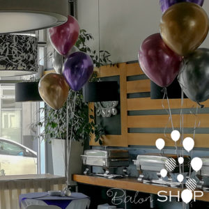 chrome baloni dekoracija