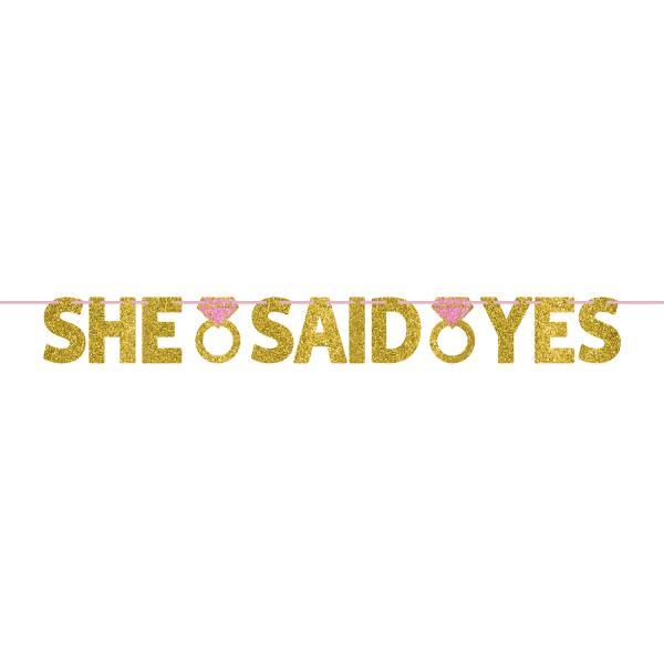 baner za devojacko vece she said yes