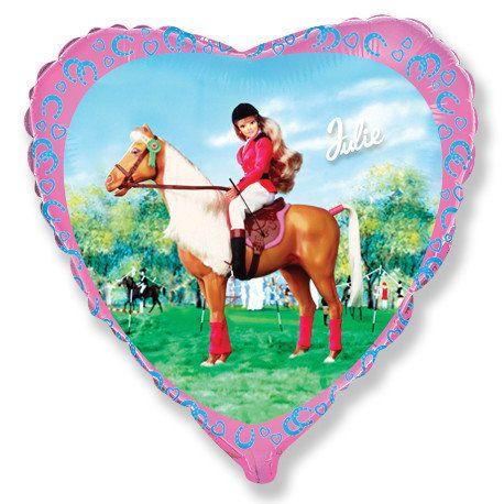 barbi na konju balon srce