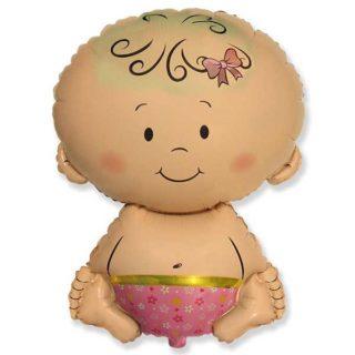 Beba devojčica balon