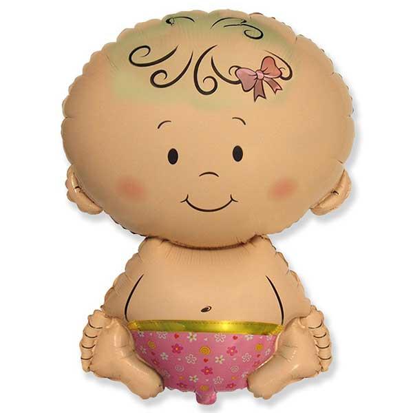 beba devojcica balon