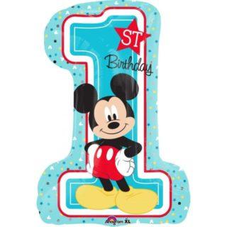 Mickey Mouse balon u obliku broja jedan