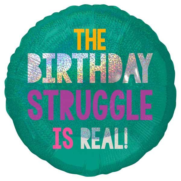 birthday struggle is real balon folija sa helijumom