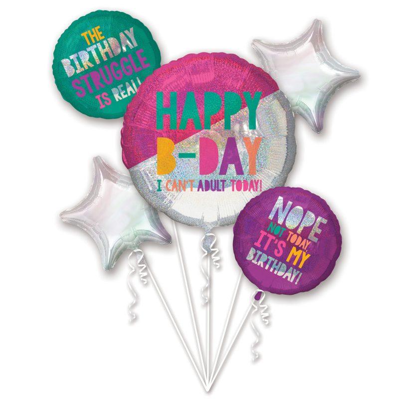 birthday vibes only buket balona