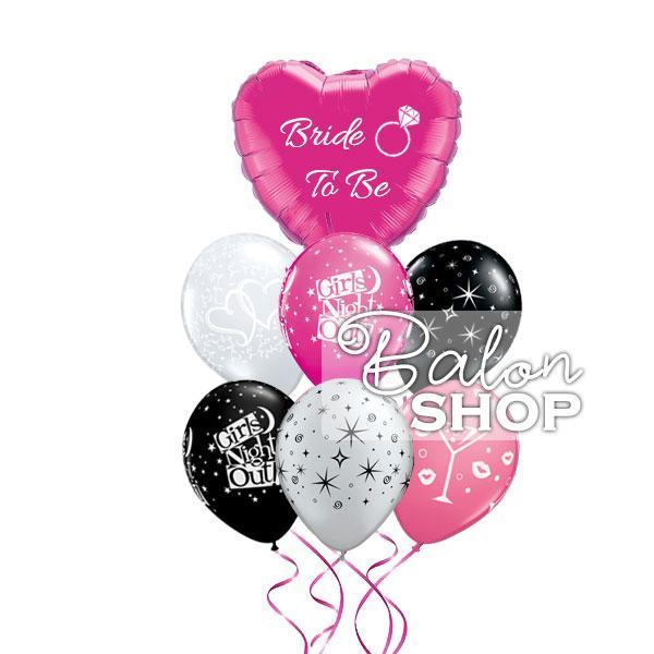 bride to be buket balona