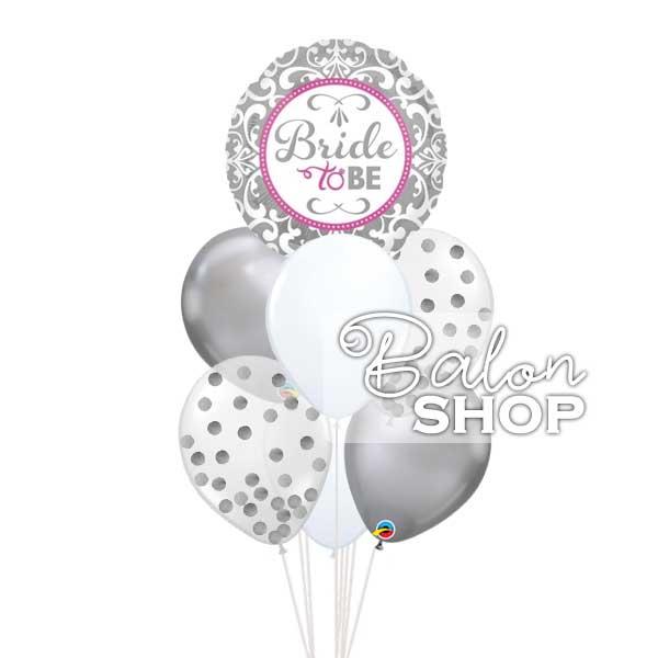 srebrni baloni za devojačko veče