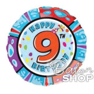 Devet broj folija okrugli balon