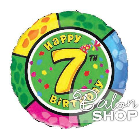 broj sedam okrugli folija balon