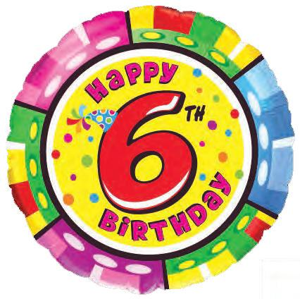 broj sest folija okrugli balon