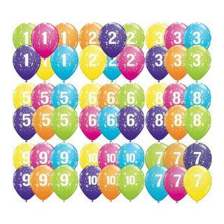 Brojevi gumeni balon