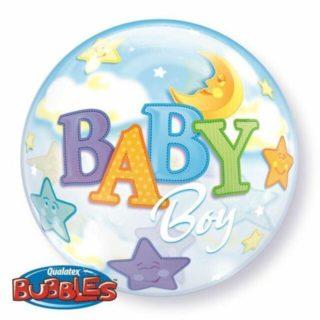 Bubble Baby Boy mesec i zvezde balon