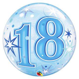18. rođendan plavi bubble balon