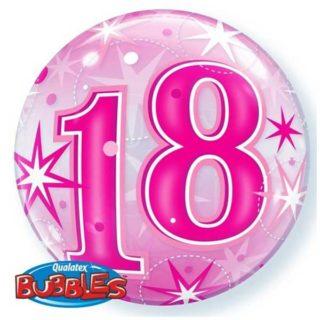 18. rođendan rozi bubble balon