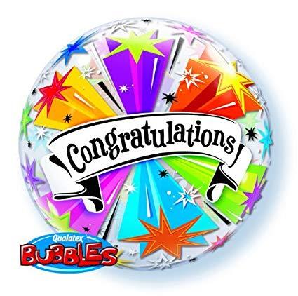 bubble congraduations balon