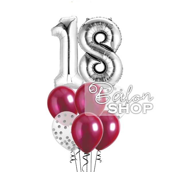 buket balona srebrni i bolja po želji