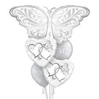 Buket balona za mladence Leptir