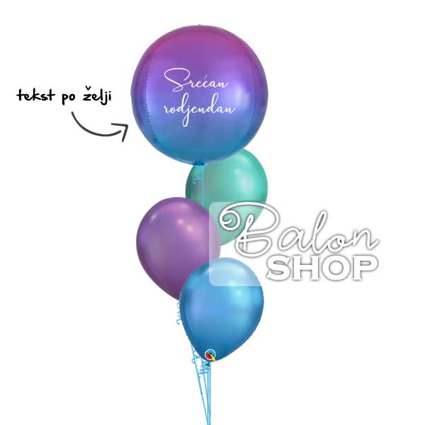 ombre baloni u buketu