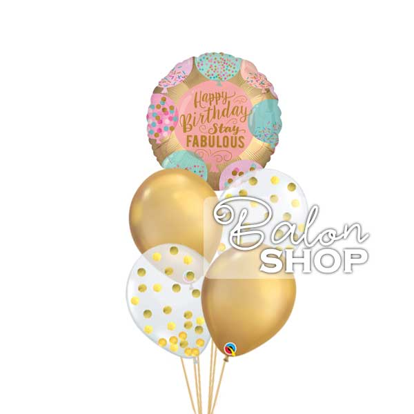 chrome gold fabulous baloni