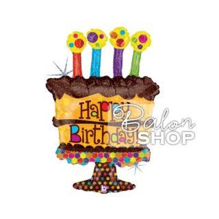 Čokoladna rođendanska torta folija balon