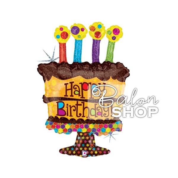 cokoladna rodjendanska torta folija balon