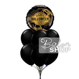 Halloween zlatno crni buket balona