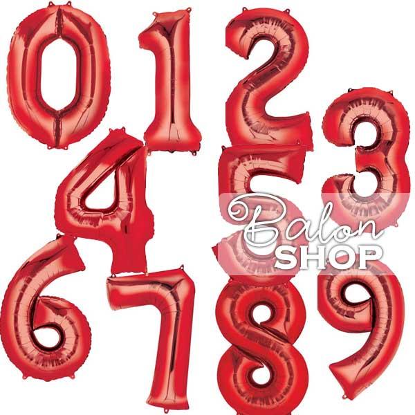 crveni brojevi baloni