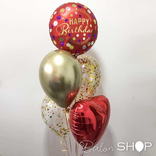 crveni rodjedanski buket balona