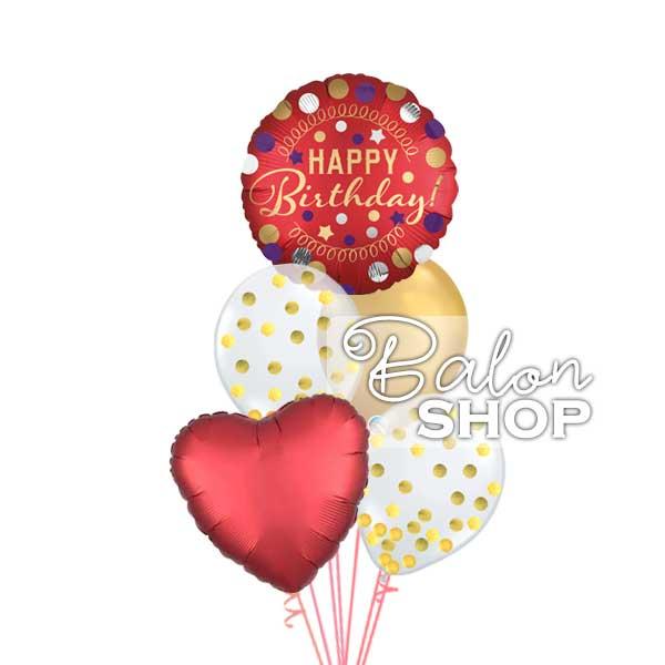 crveni rodjendanski buket balona