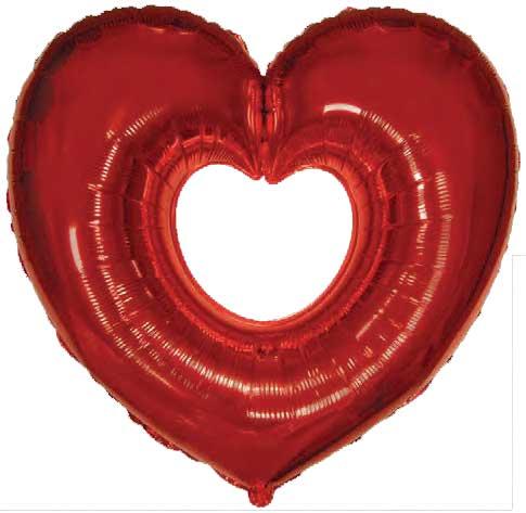 crveno srce u srcu folija baloni