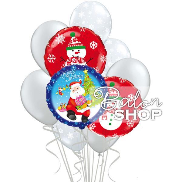 deda mraz i snesko baloni sa helijumom