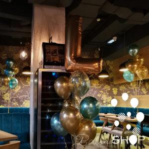 chrome baloni sa balonima sa konfetama
