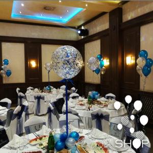 plavi baloni sa konfetama