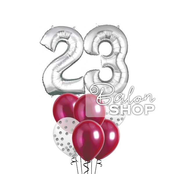 srebrni buket balona za dekoraciju rodjendana