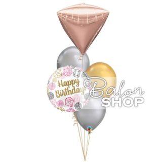 Dijamant za rođendan buket balona