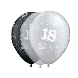 Osamnaesti rođendan gumeni baloni sa zvezdicama