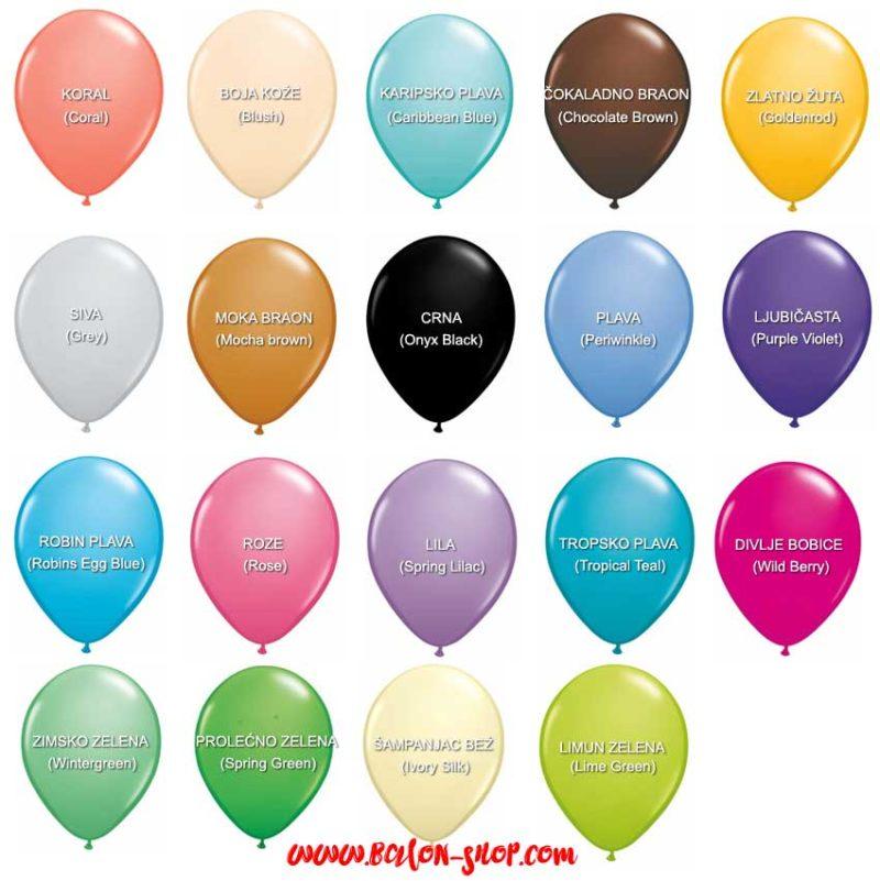 fashion boje baloni