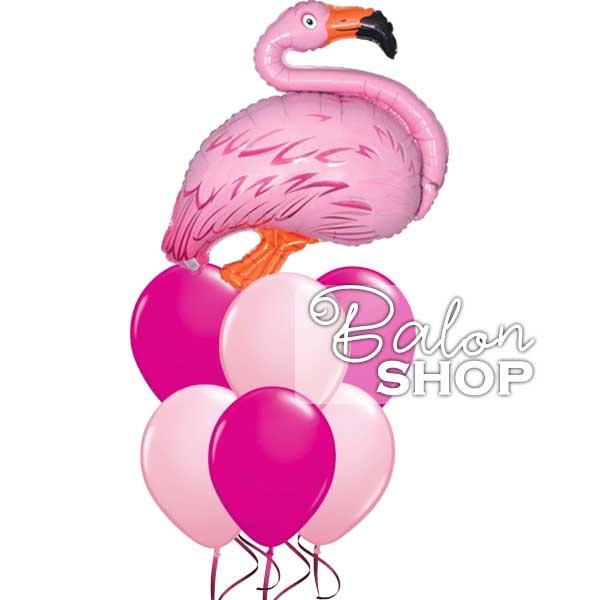 flamingo buket balona