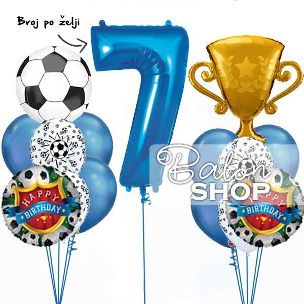 set balona fudbal za dekoraciju rođendana