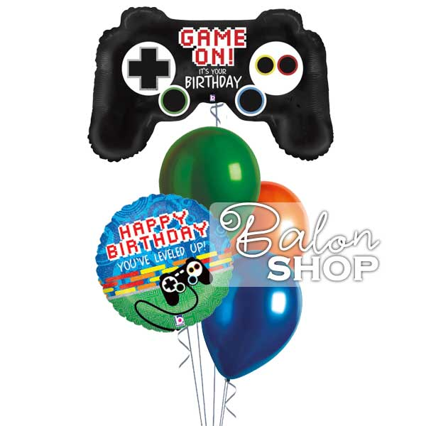 game on rodjedanski baloni u buketu